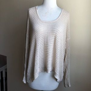 Jennifer Lopez Semi Sheer Low Gauge Sweater
